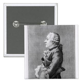 Barón Friedrich Melchior Grimm Pin Cuadrado