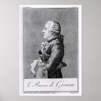 Barón Friedrich Melchior Grimm Póster