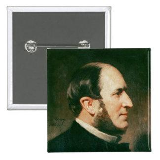 Baron Georges Eugene Haussmann  1867 Button