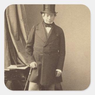 Barón James Rothschild Calcomanías Cuadradas Personalizadas