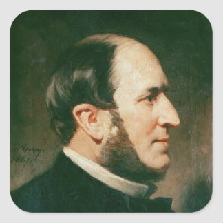 Barón Jorte Eugene Haussmann 1867 Pegatina Cuadrada