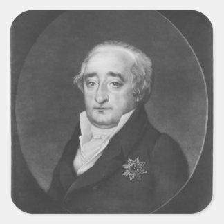 Barón Karl von Stein Pegatina Cuadrada