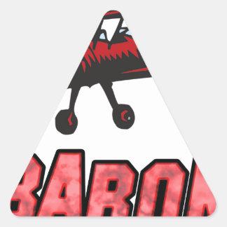 Barón rojo pegatina triangular