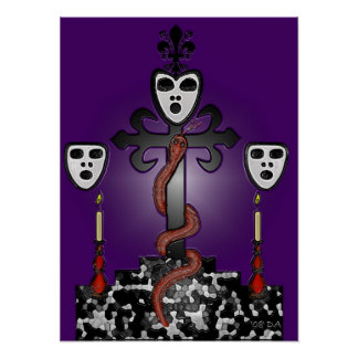 Baron Samedi and the Voodoo Guede Poster