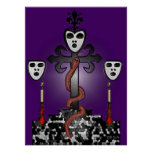 Baron Samedi and the Voodoo Guede Print