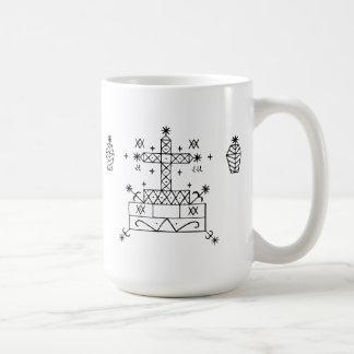 baron samedi veve classic white coffee mug