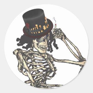 Barón Semedi y el gorra de Semedi Pegatinas Redondas