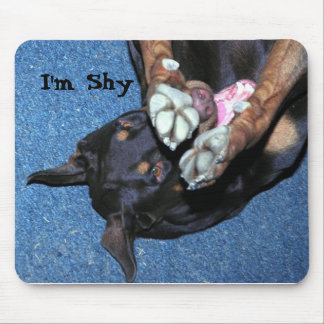 """Baron the Doberman is a """" little shy"""" Mouse Pad"""