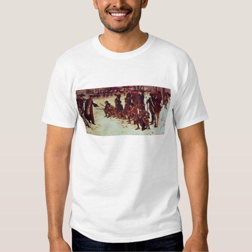 Baron von Steuben drilling American recruits T-Shirt