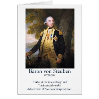 Barón von Steuben - militar de los E.E.U.U. Tarjeta De Felicitación