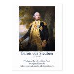 Barón von Steuben - militar de los E.E.U.U. Tarjetas Postales