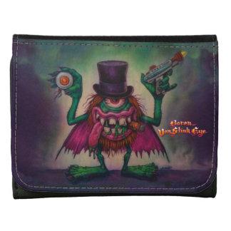 Baron Von Stink Eye Bill Fold Leather Trifold Wallet
