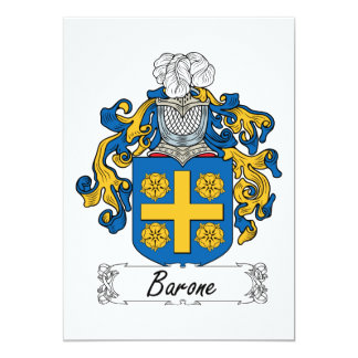 Barone Family Crest Card