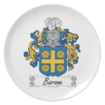 Barone Family Crest Plate