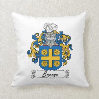 Barone Family Crest Throw Pillow