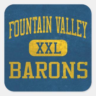 Barones Athletics de Fountain Valley Pegatina Cuadrada