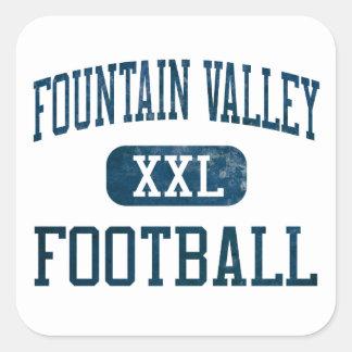 Barones Football de Fountain Valley Pegatina Cuadrada