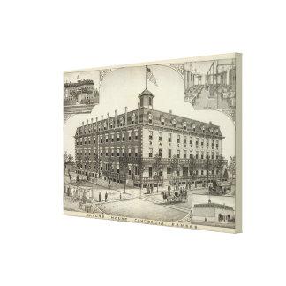 Barones House, Concordia, Kansas Impresión En Lienzo Estirada