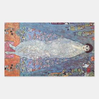 Baronesa Elizabeth de Gustavo Klimt Rectangular Pegatinas