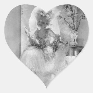 Baronesa en vestido de boda calcomanías corazones