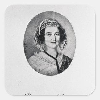 Baronesa Louise Lehzen Calcomania Cuadradas Personalizadas