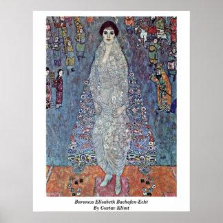 Baroness Elisabeth Bachofen-Echt By Gustav Klimt Poster