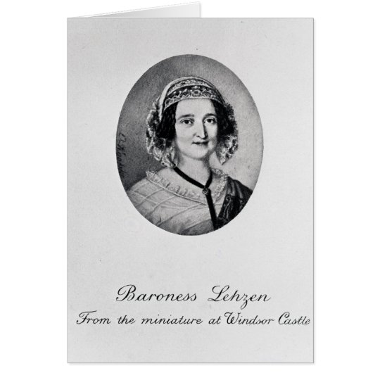 Baroness Louise Lehzen Card