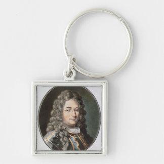 Baronet de Jean (1651-1702), 1789 (grabado colorea Llavero Cuadrado Plateado