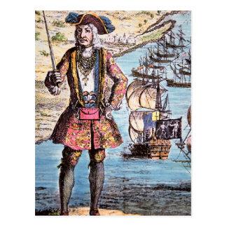 Baronet negro del pirata postal