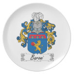 Baroni Family Crest Party Plate