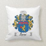 Baroni Family Crest Throw Pillows