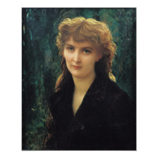 Baronness Eleonore d'Uckermann  1884 Poster
