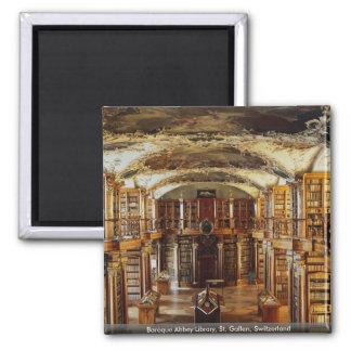 Baroque Abbey Library, St. Gallen, Switzerland Magnet