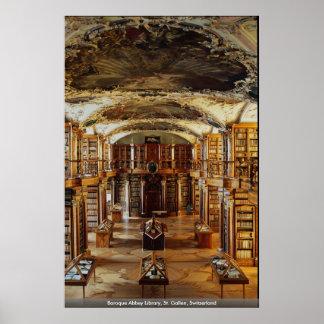 Baroque Abbey Library, St. Gallen, Switzerland Poster