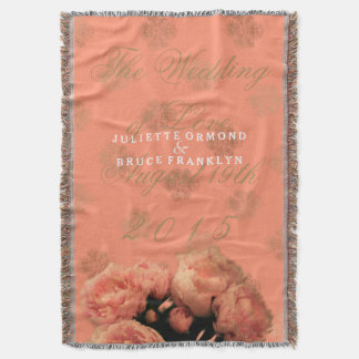 Baroque And Peonies - Throw Blanket