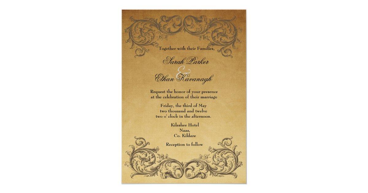 Baroque Wedding Invitations: Baroque Antique Wedding Invitation