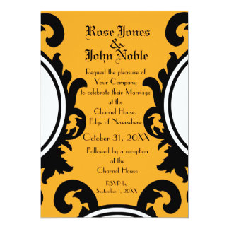 Baroque Black (Amber) Wedding Invitation