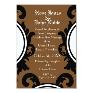 Baroque Black (Brown) Wedding Invitation