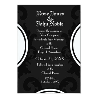 Baroque Black (Charcoal) Wedding Invitation