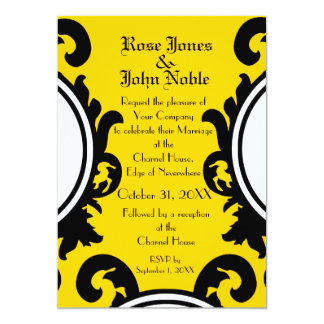 Baroque Black (Gold) Wedding Invitation