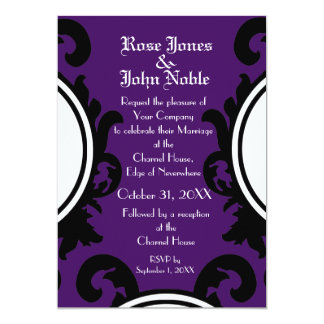 Baroque Black (Indigo) Wedding Invitation
