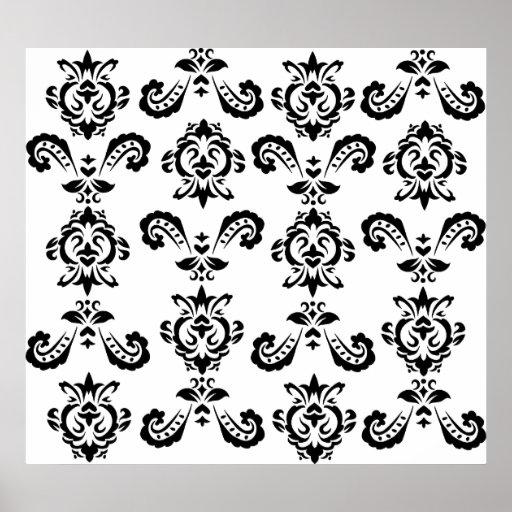 Baroque Black Print
