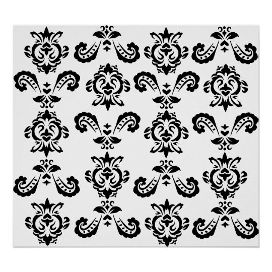 Baroque Black Print