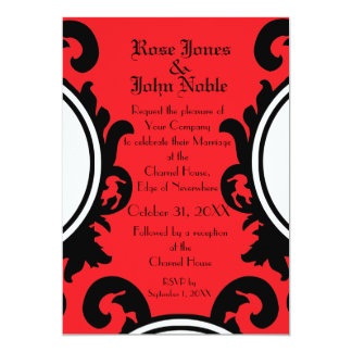 Baroque Black (Ruby) Wedding Invitation