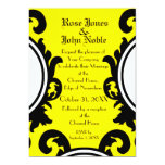 Baroque Black (Yellow) Wedding Invitation