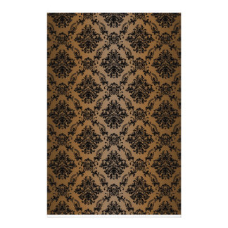 Baroque Brown Victorian Scrapbook Paper Stationery Design