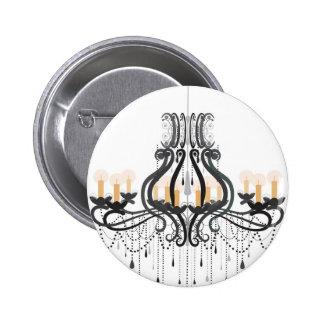 Baroque Chandelier Pinback Button