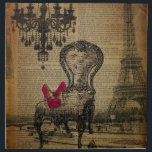 "baroque chandelier rococo paris eiffel tower napkin<br><div class=""desc"">stiletto baroque chandelier rococo paris eiffel tower gifts. Art deco fashion accessories. Shoe lover gifts. Parisian birthday gifts. Fashionista home accessories.</div>"
