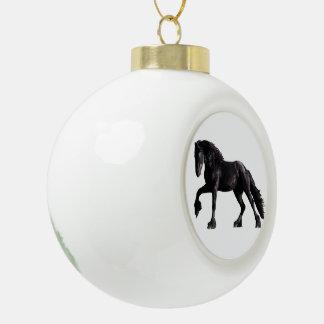 Baroque Colt Ceramic Ball Christmas Ornament