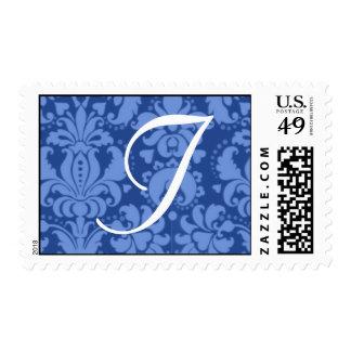 Baroque Custom Color Custom Monogram Wedding Stamp